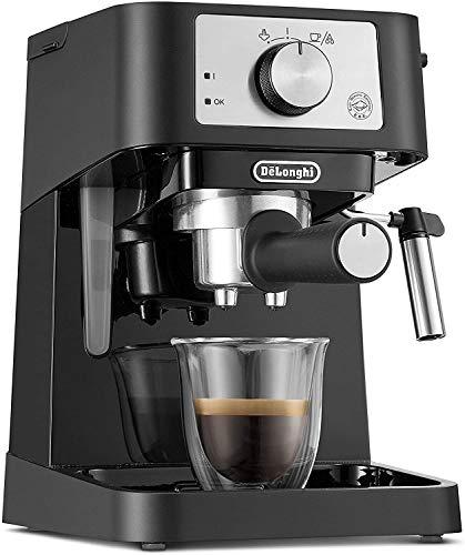 De'Longhi Stilosa Premium EC260.BK - Cafetera de bomba con 15 bares de presión, 1100 W, 1L, color negro y plata