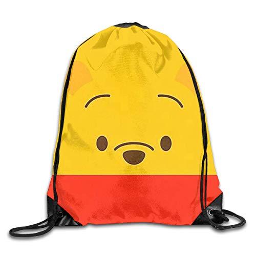 GHMJVHFG Winnie The Pooh Drawstring Backpack Bag Beam Mouth Yoga Sackpack Rucksack Shoulder Bags for Men & Women