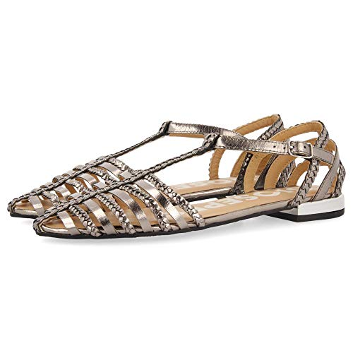 Gioseppo Harmony, Zapatos Tipo Ballet Mujer, Plomo, 38 EU