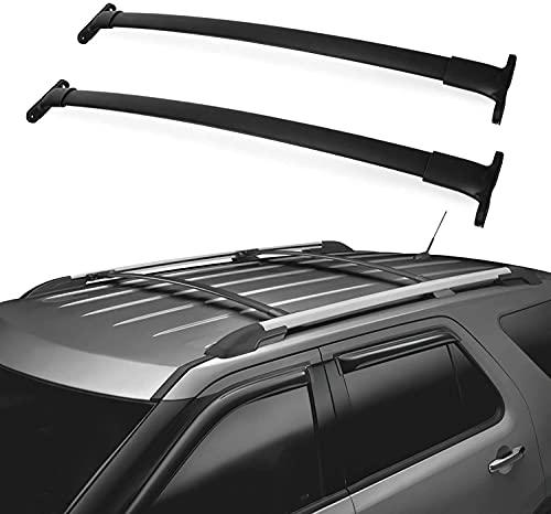 2 barras transversales de aluminio para portaequipajes de techo de coche para Ford Escape 2013 - 2019, portaequipajes de barra transversal en la azotea, portaequipajes para bicicleta, portaequipajes
