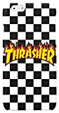 Featuring Thrasher Compatible with iPhone 6 and iPhone 6s Soft Phone Case Cover Cool Skateboarder (A) Black and White