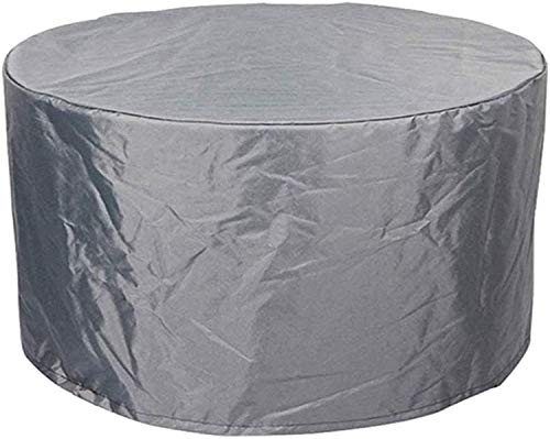 LIVIVO Premium Patio Table Cover with Covered Air Vents, Nylon Drawstring and Fastening Clips for Secure Fit – Water Resistant Garden Furniture Protection (Round)