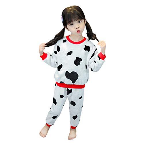 JERFER Kleinkind Kinder Baby Jungs Mädchen Karikatur Kuh Gedruckt Tops + Hosen Pyjama Outfits einstellen A216