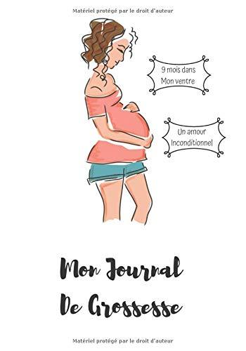 Mon Journal De Grossesse: Carnet qui vous suivra tout au long de votre grossesse /7x10, 50 pages colorés / petit livre à transporter facilement.