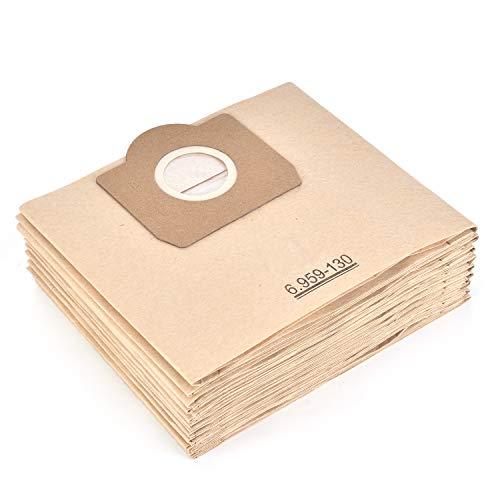 Staubsaugerbeutel für Karcher 6.959-130.0 Papiertüten Filter (10 Stück) A 2201/2204/2504