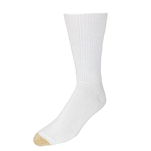 Gold Toe Men's Fluffies Soft Casual Socks (Pack of 3), White