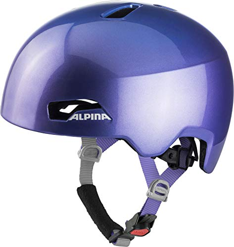 ALPINA Unisex - Kinder, HACKNEY Fahrradhelm, flip flop purple, 47-51 cm
