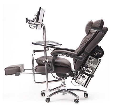 Bürostuhl Gaming Bürostuhl, Ergonomisches Design Höhenverstellbare, Gut Gepolsterte Fußstütze Und Lendenkissen Mit Gepolstertem Liegestuhl