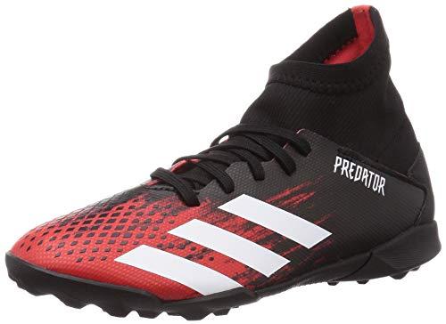 Adidas Predator 20.3 TF J, Zapatillas Deportivas Fútbol Unisex Infantil, Multicolor (Core Black/FTWR White/Active Red), 35.5 EU
