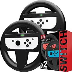 in budget affordable Mario Kart 8 Deluxe Nintendo Switch Orzly Nintendo Switch Steering Wheel Dual Set,…