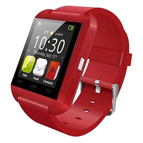 MERIGLARE U8 Sports Smart Watch Hombres Smartwatch Bluetooth Sport Smart Watch Dispositivo Portátil - Rojo