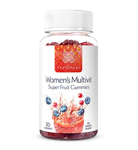 Women's Multivitamin Super Fruit Gummies | Healthspan | 30 Gummies | with Vitamin C & Vitamin D3 | Essential Micronutrients | Added Folic Acid | Biotin | Boosts Immunity | No Added Sugar