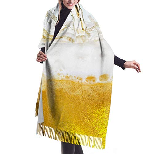 Yaxinduobao Womens Winter Scarf Cachemira Feel Cold Beer Glass Scarves Stylish Shawl Wraps Soft Warm Blanket Scarves For Women