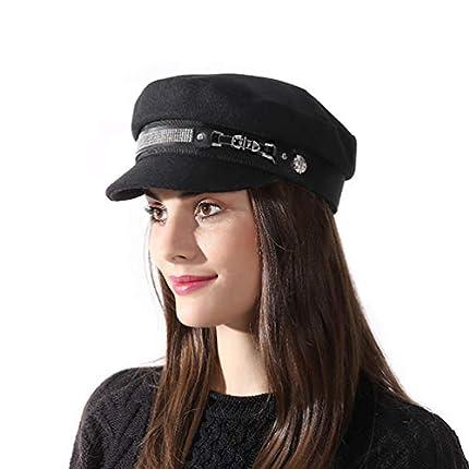 SIYWINA Gorra Boina Mujer Gorras Planas Gorra Marinero Boina Newsboy Hat