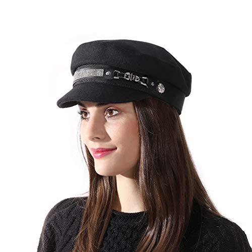 SIYWINA Schirmmütze Barett Mütze Damen Bakerboy Mütze Beret Cap