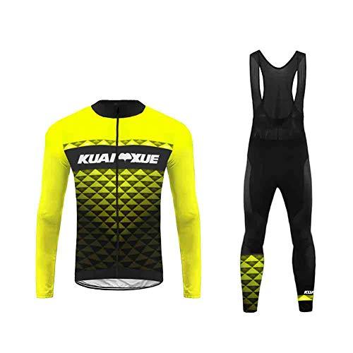 Uglyfrog Conjunto Ciclismo 2019-2020 Nuevo Hombre Primavera/otoño 3D Cojín Pantalones Larga Malliot de Ciclismo Elástica Ropa de Ciclista Transpirable Bodies CXML04