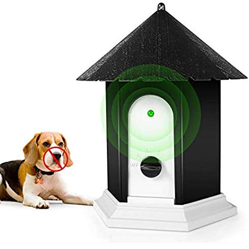2019 New Bark Box Outdoor Dog Repellent Device with Adjustable Ultrasonic Level Control Safe for Small Medium Large Dogs Zomma Anti Barking Device Bark Control Device Sonic Bark Deterrents