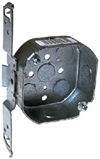 Hubbell-Raco 161 1-1/2-Inch Deep, 1/2-Inch Side Knockouts, Wood/Metal Stud Bracket 4-Inch Octagon Box