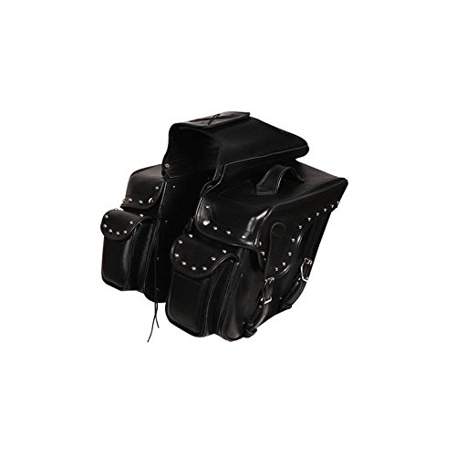 Alforjas Moto Custom de Cuero Sintetico con tachas Mod. SD-9180