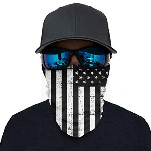 Toomjie Amerikaanse Vlag afdrukken Hoofdbanden Bandana Cool Magic Multi-Functionele Gezicht Cover Beschermend voor Hardlopen Wandelen Ridding
