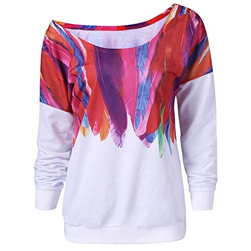 TW Women Nothing to WEAR Brief Print Rundhals Einfarbig L/ässige Sweatshirt Tops