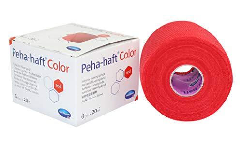 Paul Hartmann AG Peha Haft color Fixierbinde latexf, 6 cm x 20 m, rot, 1 Stück