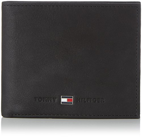 Tommy Hilfiger Johnson Mini CC Wallet, Cartera Hombre^Mujer, Black, OS