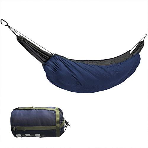 Hamaca Portátil Debajo del Edredón Hamaca Térmica Debajo De La Manta Hamaca Accesorio De Aislamiento Saco De Dormir para Acampar Al Aire Libre para Acampar,Azul