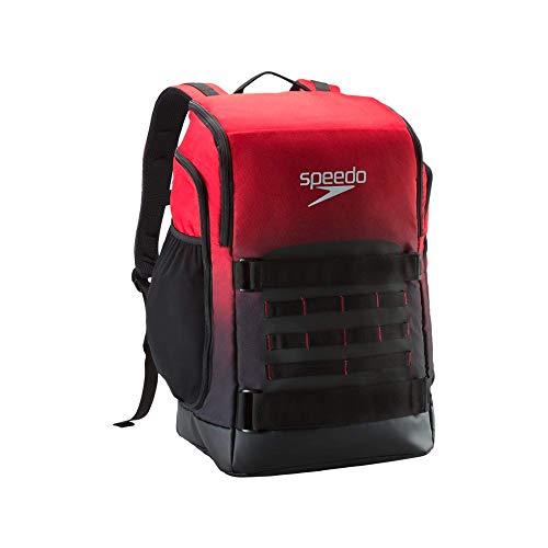 Speedo Teamster PRO Backpack (40l) Zaino, Rosso, Taglia Unica Unisex-Adulto