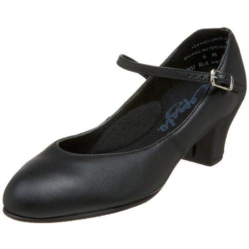 Capezio womens Jr. Footlight Character Shoe  Black  5.5 M US