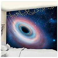 Lmhecyf タペストリーブラックホール宇宙空間星雲タペストリー壁カバーサイケデリックウォールハンギングビーチタオル薄い毛布150x100cm