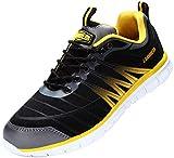 LARNMERN Zapatos Seguridad con Punta de Acero para Hombre Zapatillas Seguridad Femenino Ligeros S1P