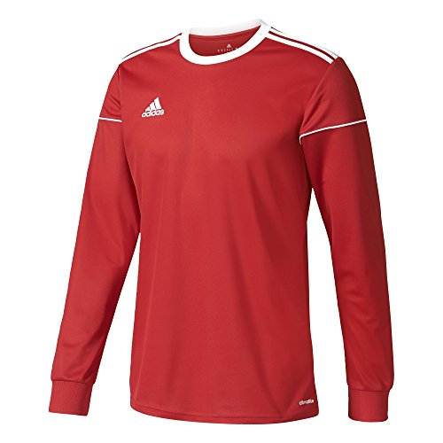 adidas Jungen Squadra 17 Langarmtrikot, Power Red/White, 116
