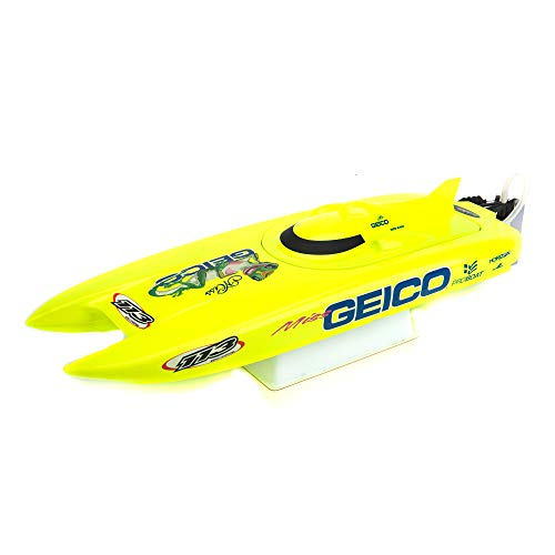 Pro Boat Miss Geico RC Boat 17' Brushed Catamaran RTR (Includes Controller, Transmitter, Battery and Charger), PRB08019