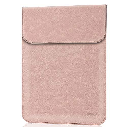 TECOOL 13-13.3 Zoll Laptop Hülle Tasche Faux Leder Schutzhülle für MacBook Air 13/ MacBook Pro 13, Huawei Matebook X Pro/Matebook D14, 13.5