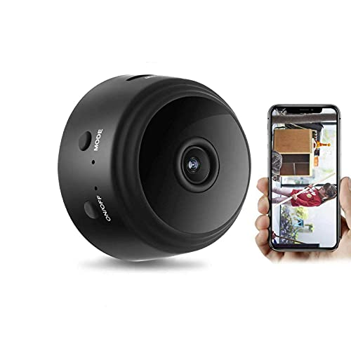 KASUP HD mini cámara WIFI, 1080P WiFi CCTV interior/al aire libre HD mini cámara IP espía, cámara de seguridad casera