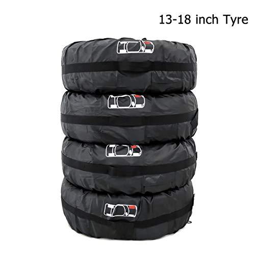 Queta Reifentaschen Set 4 Stück Autorädertaschen Wasserdicht Auto Reifen Taschen mit Griff Reifenschutz Passend für 13-18 Zoll große Autoreifen, 210D Oxford-Stoff, Reifentasche Durchmesser 66cm
