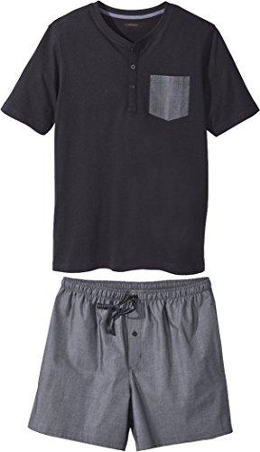 Golden Lutz - Herren Schlafanzug Shorty mit Brusttasche, 2-teilig (Navy, Gr. L - 52/54) | LIVERGY