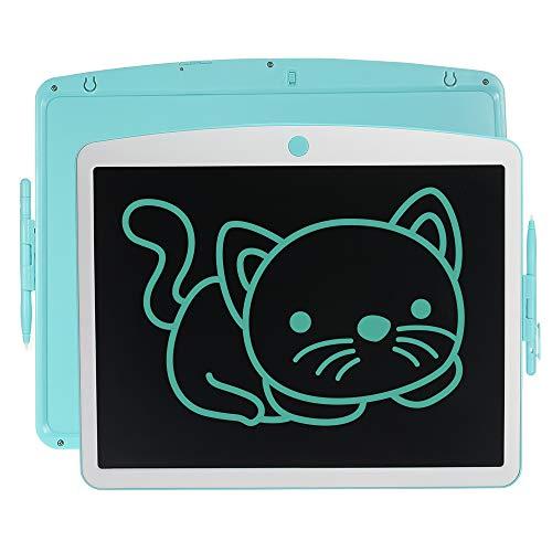 Aibecy Tableta de dibujo de 16 pulgadas, tableta LCD con lápiz capacitivo de borrado y botón de bloqueo reutilizable para escribir a mano para niños estudiantes adultos en casa escuela oficina