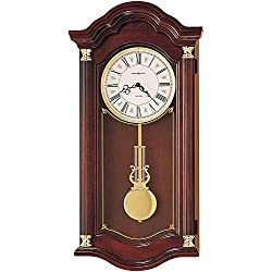 Howard Miller Lambourn I Wall Clock 620-220 – Windsor Cherry with Dual-Chime Movement