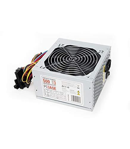 PCCASE EP-500 Unidad de - Fuente de alimentación (500 W, 220 V, 50-60 Hz, 5 A, 12V,+3.3V,+5V,+5Vsb,12V, 20 A)