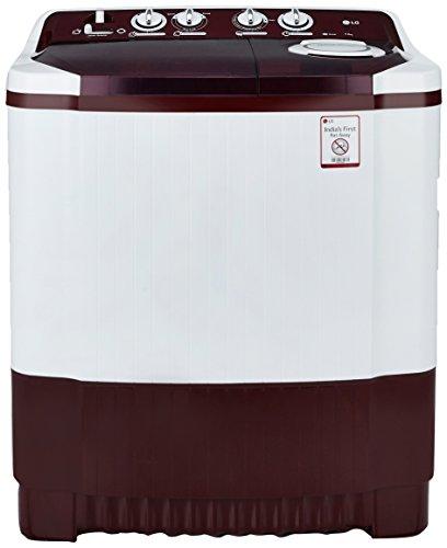 LG 7.0 kg Semi-Automatic Top Loading Washing Machine (P8053R3SA, Burgundy)