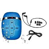 8GB防水MP3プレーヤー、水泳・ランニング対応、コードの短い水中ヘッドホン(3種類のイヤーバッド)、シャッフルモード付き1 (ブルー)