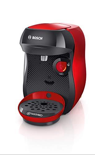 Bosch TAS1003 TASSIMO Happy Cafetera de cápsulas, 1400 W, color rojo...