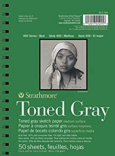 Strathmore Drawing 400 Series Toned Gray Sketch Pad, 5.5