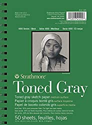 Strathmore Gray Drawing 400 Series Toned Sketch Pad, 5.5