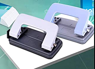 手動二穴パンチオフィス文房具は80 gの紙を10枚打つことができます。