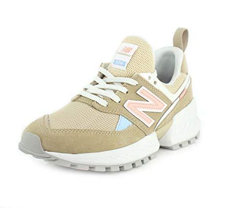 New Balance Sneakers 574 Beige Rosa Celeste Bianco WS574PRB (40 - Beige)