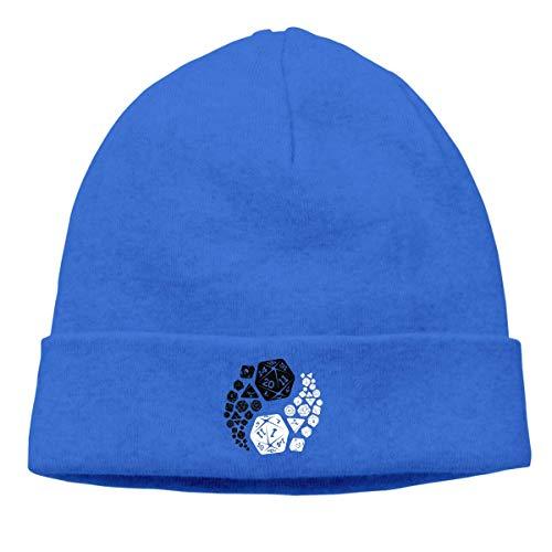Gorros de Punto Mazmorras y Dragones Yin Yang Blue Gorro Slouch Beanie de Fino para Hombres Mujeres Sombrero de Invierno de Punto Gorro