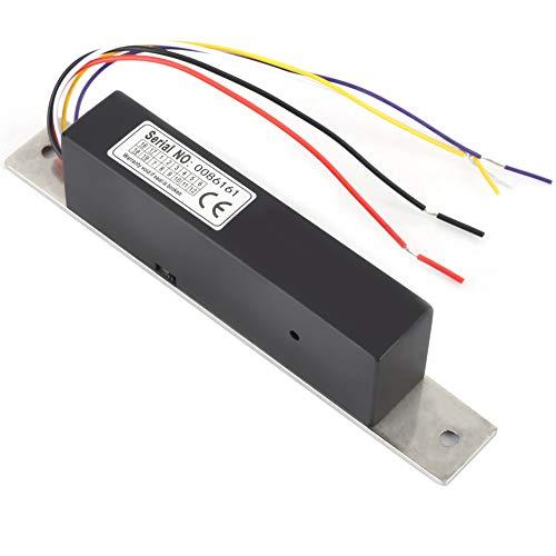 QYSZYG Electric Drop Bolt Lock Access Delay Metal Strip Signal Feedback Single Door Magnetic Lock for Glass Door/Wooden Door